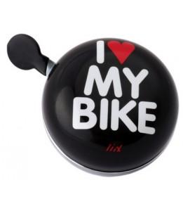 Liix Din Dong zvonček I love my bike črn