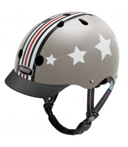 Nutcase čelada Little Nutty Silver Fly Street Helmet XS