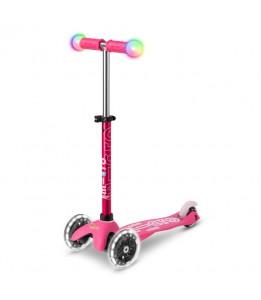 Mini deluxe MAGIC z LED kolesi rožnat
