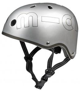Čelada micro srebrna mat M (53-58 cm)