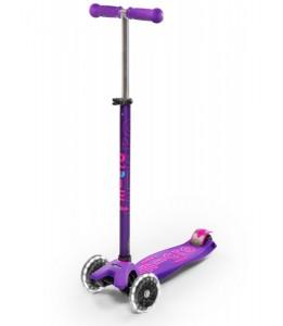 Maxi skiro deluxe vijoličast LED kolesi
