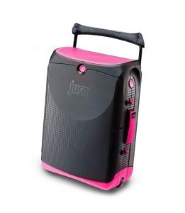 Jurni potovalni kovček rožnat